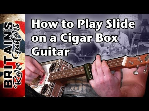 How to play slide on a Cigar Box Guitar.