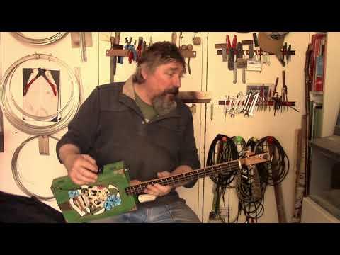 Fishman equipped ChickenboneJohn 3 string guitar