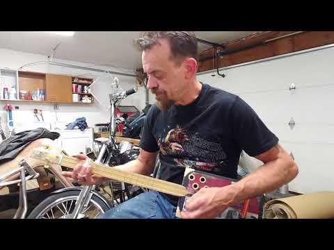 Cigar box guitar build #6.. tone test.