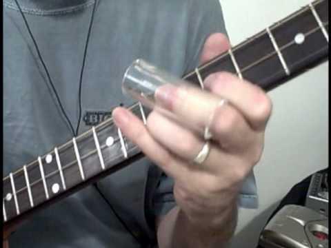 Murky waves of  deep sea Tide moving drift away Tone  with a Glass Slide  - 3 - String Cigar Box Guitar