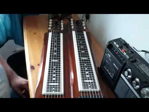 Rubbish demo of a double 8 string lapsteel guitar.