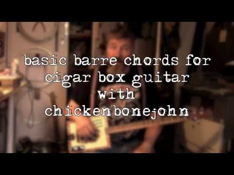 Basic barre chords for cigar box guitar