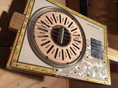 Paint Lid Resonator Guitar