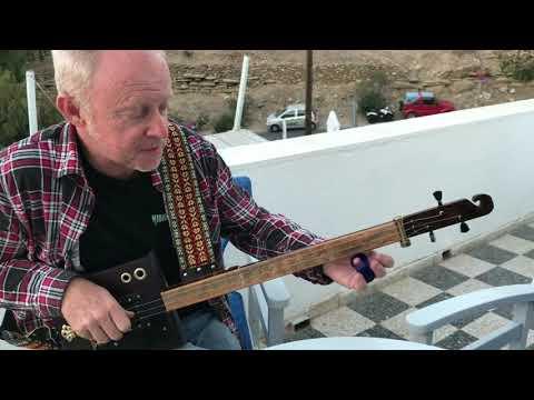 Norwegian Wood on Slide 3 string cigar box guitar by Nigel McTrustry