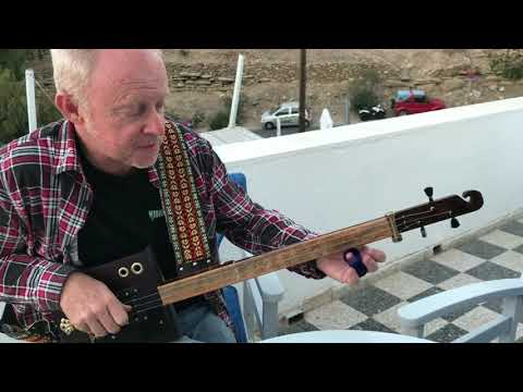Norwegian Wood on Slide 3 string cigar box guitar by Nigel McTrustry