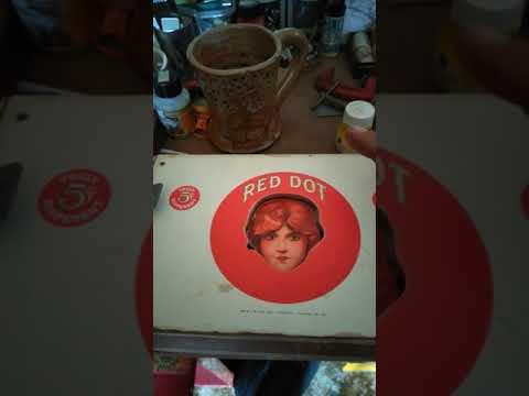Red Dot cigar Box guitar