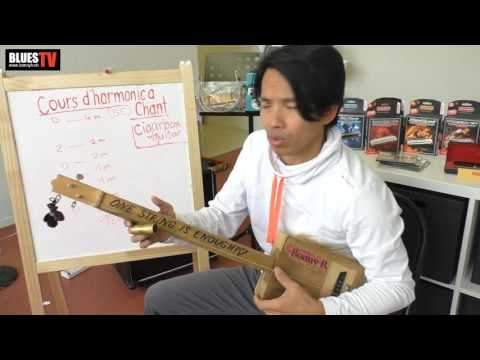 BLUES TV - Bonny B. teaching Cigarbox guitare One string beginners en Francais & Anglais
