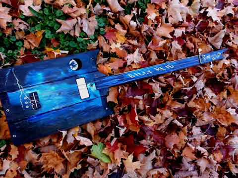 Swamp witch guitar blue lightning 2