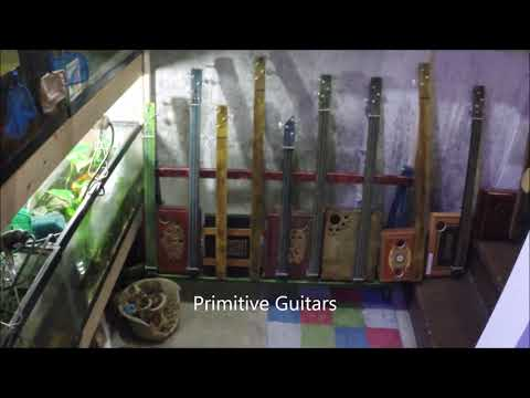 New wall cigar box guitar Rack