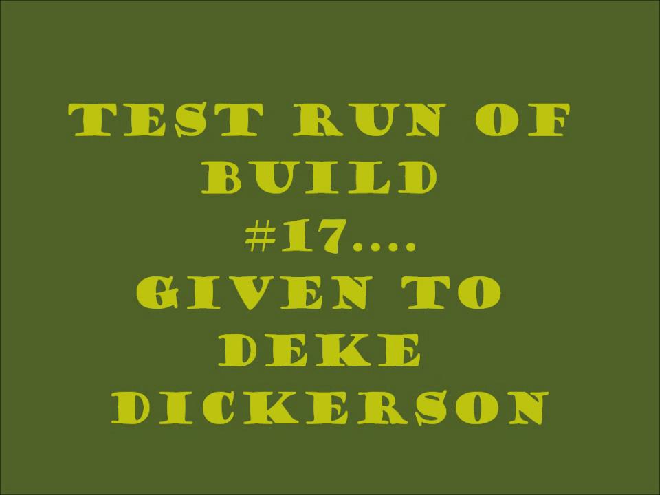 CBG#17 Test Run