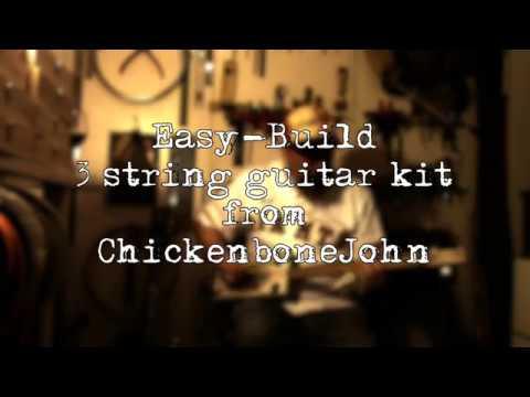 Easy-Build 3 string cigar box guitar kit