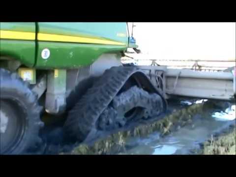 Soucy Tracks John Deere Combine In Extreme Conditions