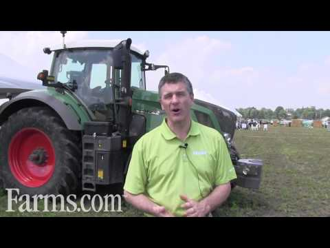 Farmers Drive Their Tractors To The Fendt Field Days.