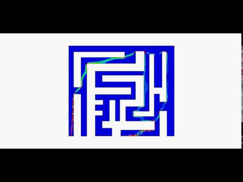 Maze-solving by topology optimization