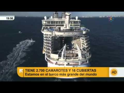 En directo desde el crucero más grande del mundo