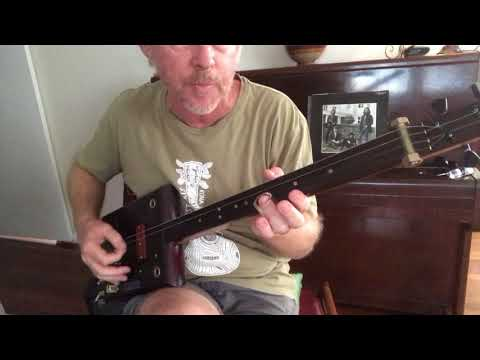 How to Play Rain (The Beatles) on a 3 & 4 string slide cigar box guitar