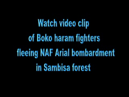 Boko Haram fighters fleeing NAF bombardment in Sambisa