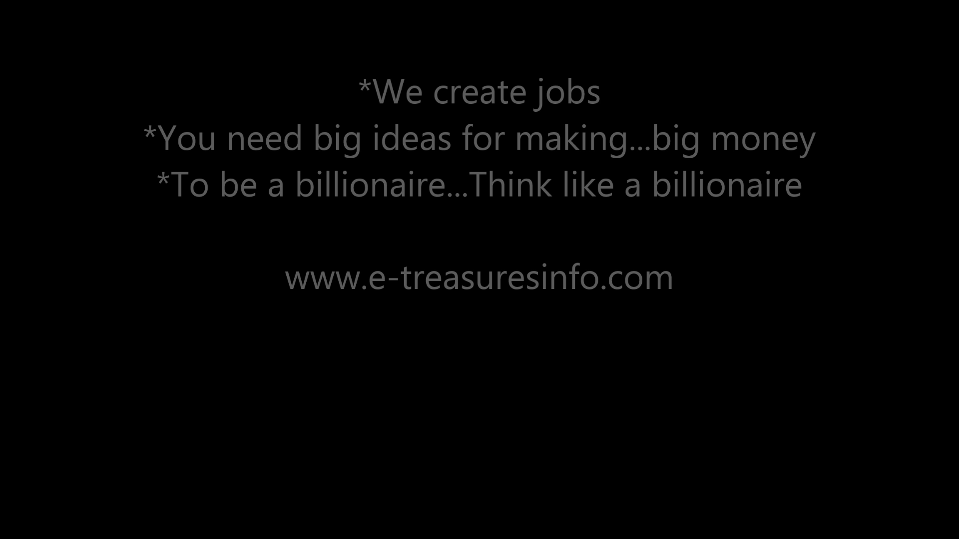 We create jobs