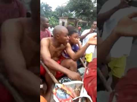 Fake Pastor Caught With Voodoo [ Juju ] In Enugu - Nigeria Evicted from A Town With His Family