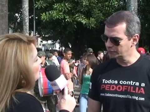 Caminhada Todos Contra a Pedofilia 17-05-13 - Sintonia Popular entrevista com Dr. Casé Fortes