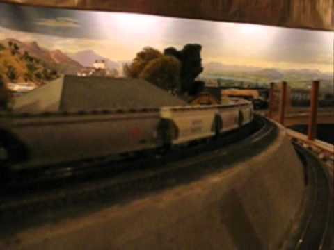 Southern Pacific grain train - HO at Westbay Club Menlo Park
