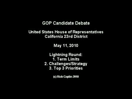 Candidate Debate: Part 7 - Lightening Round