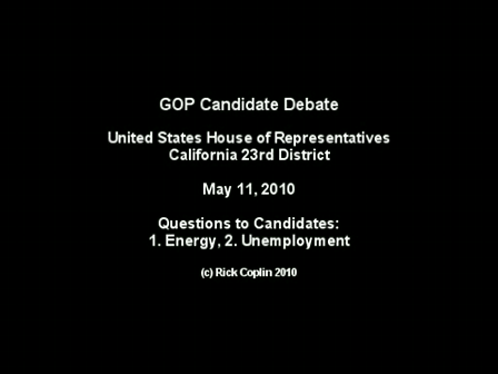 Candidate Debate: Part 2 - Questions