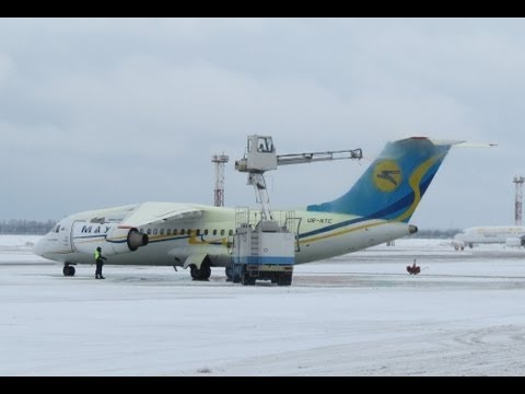 Aircrafts Cover With Snow At Kiev Boryspil International Airport HD