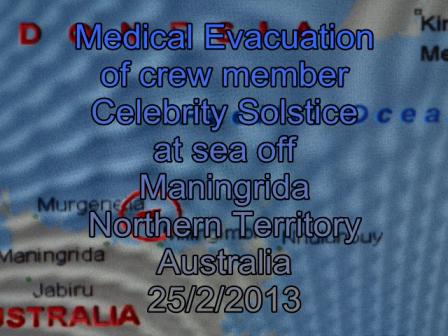Celebrity Solstice medi evac