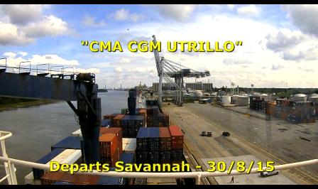 CMA CGM Utrillo - Savannah River Departure