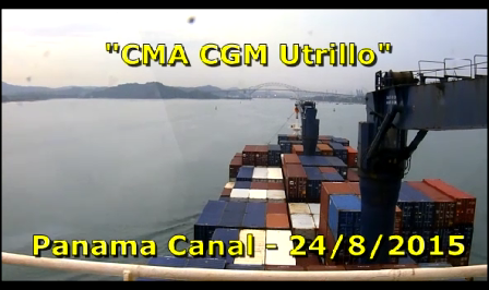 CMA CGM Utrillo - Panama Transit - Part 1
