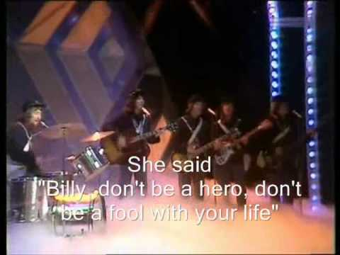 Paper Lace - Billy don't be a hero (lyrics)