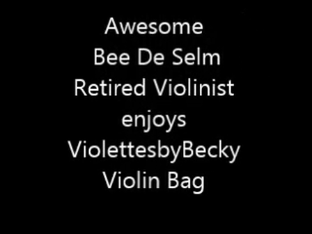 Retired Violinist loves Momento Purse