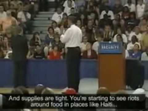 Barack Obama responds to vegan question (Subtitled)