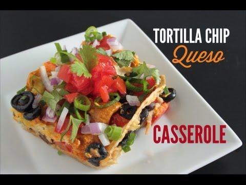 Tortilla Chip Queso Casserole :: Vegan
