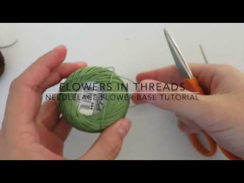 Needlelace for Beginners- Flower Center Video Tutorial (Turkish Igne Oya)