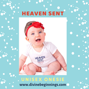 Unisex 'Heaven Sent - Made in the USA' Onesie