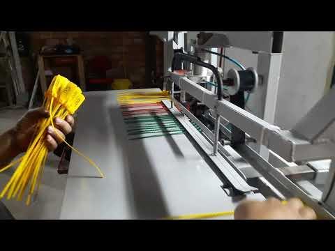 Máquina para impressão  de logo tipo e numeração de lacre de segurança