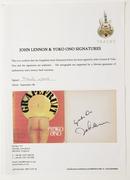 Lennon Ono Signed Grapefruit Book $3300