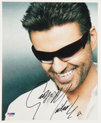 "''Sell:"",George Michael Signed 8x10 Color Photo, Roger Epperson & PSA LOA's,Only $650.00, Free Shipping Tracking Is Extra"