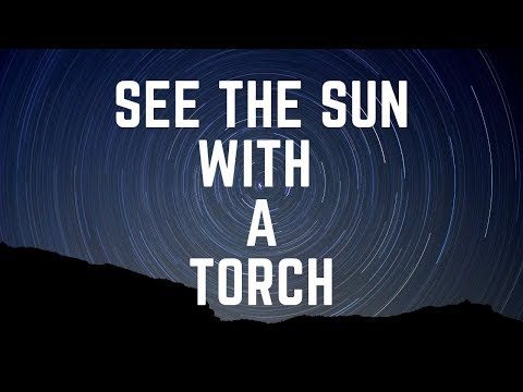 Can you see the Sun with a torch light in a new moon night sky?