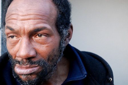 Larry, a homeless man who lives on the corner of 181st and Ft. Washington