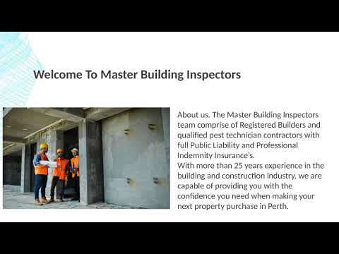 Building Inspection in Perth - Master Building Inspectors