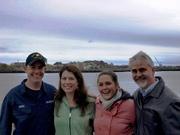 Nick,Carol,Erika & Dana in Boston Harbor