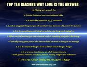 Top Ten Reasons Why Love Is The Answer