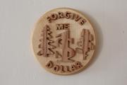 USA wooden coin