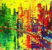 Just cross that bridge 100x100cm