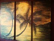 sunset in caribic