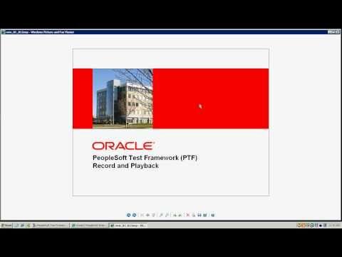 PeopleSoft Test Framework Part 1