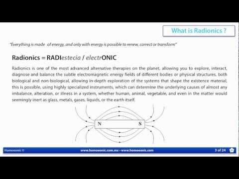 What is Radionics ? - Homoeonic 2013
